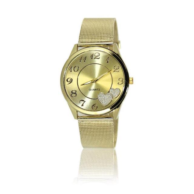 Loving Heart Women Dial Watch Women Wrist Quartz Wristwatches Bracelet Watches D