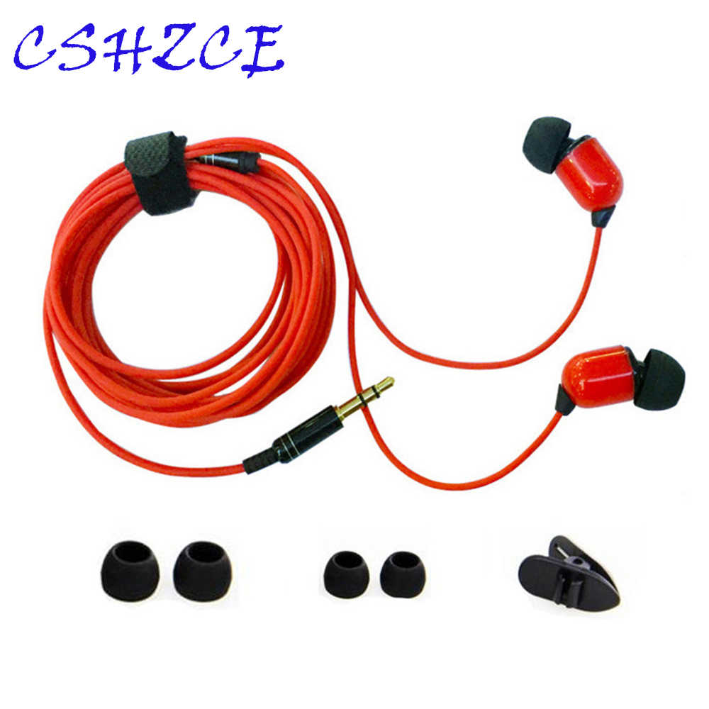 Monitor Earphone 3.5mm In-Ear Stereo Earbuds 3 Color Cool 3 M Long Line Headset For Computer Cell Phone MP3 Music Phone