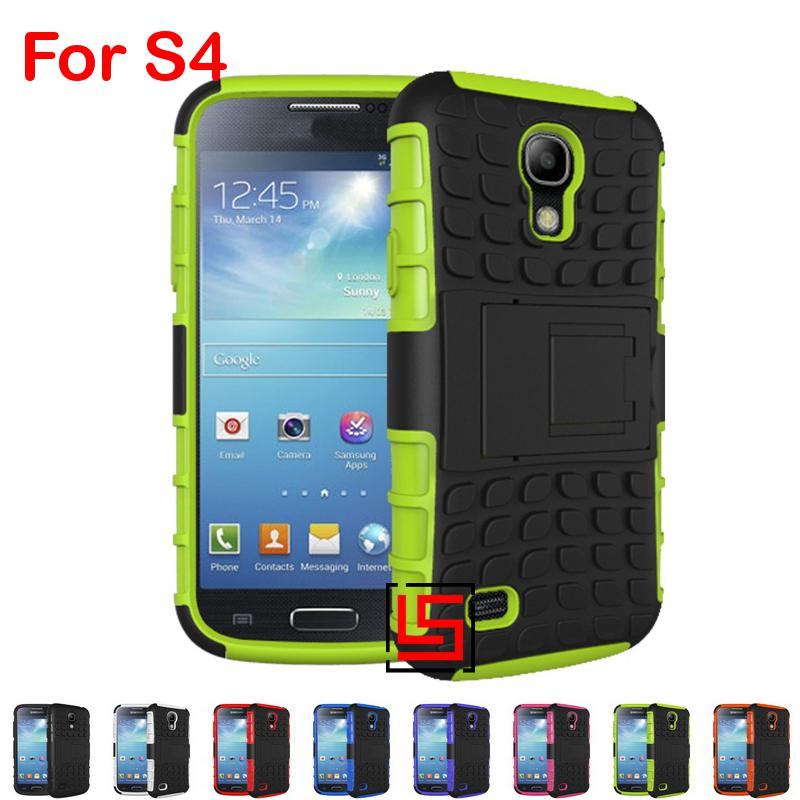 Armor Rugged Hybrid Hard PC Plastic TPU ShockProof Holder Stand Back Phone Case Cover For Samsung Galaxy Galaksi Galaxi S4