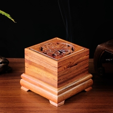 High quality solid wood mahogany smoked incense burner coil buddhist supplies manualidades free shipping