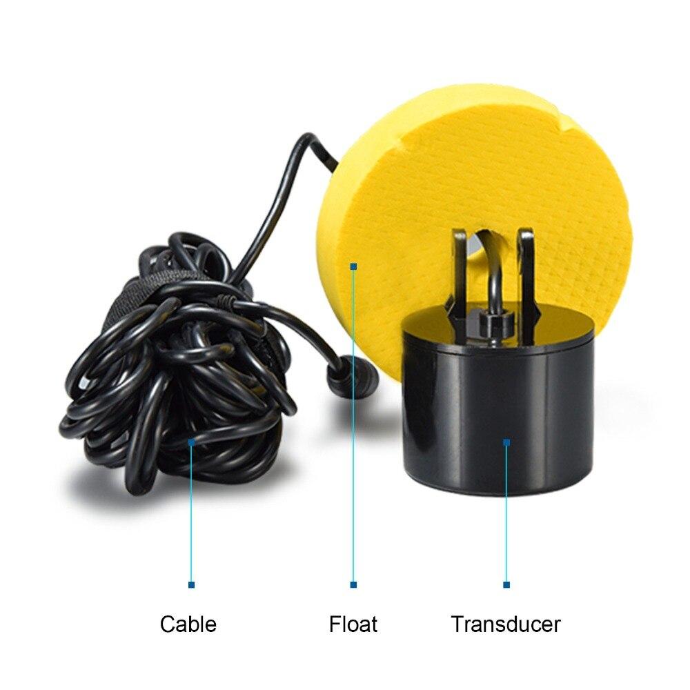 Sonar filaire chanceux pour détecteur de poissons profondeur 100 M/300FT détecteur d'alarme de poissons de profondeur pour la pêche en bateau