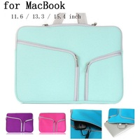 New Double Zipper Pocket Laptop Sleeve For Macbook Air Pro Retina 11 6 13 3 15