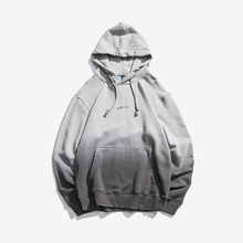 Hoodies Men Japanese Gradient Hooded High Street Pullover Cotton Fashion Hip Hop Streetwear Casual Pocket Hoodie Autumn2019