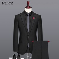 Men Suit Fashion Black New Arrivals Business Casual Groom Wedding Wear Single Breasted Summer Autumn Latest