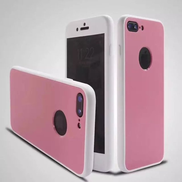 OliveMoon 360 Degree Full Body Rubber Soft Case For iPhone 6 6s 7 8 Silicone TPU Full Coverage Case For iPhone 7 6 6s 8 Plus