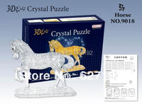 DIY 3D Three Dimensional Horse Crystal Puzzle Birthday Gift Educational Toys