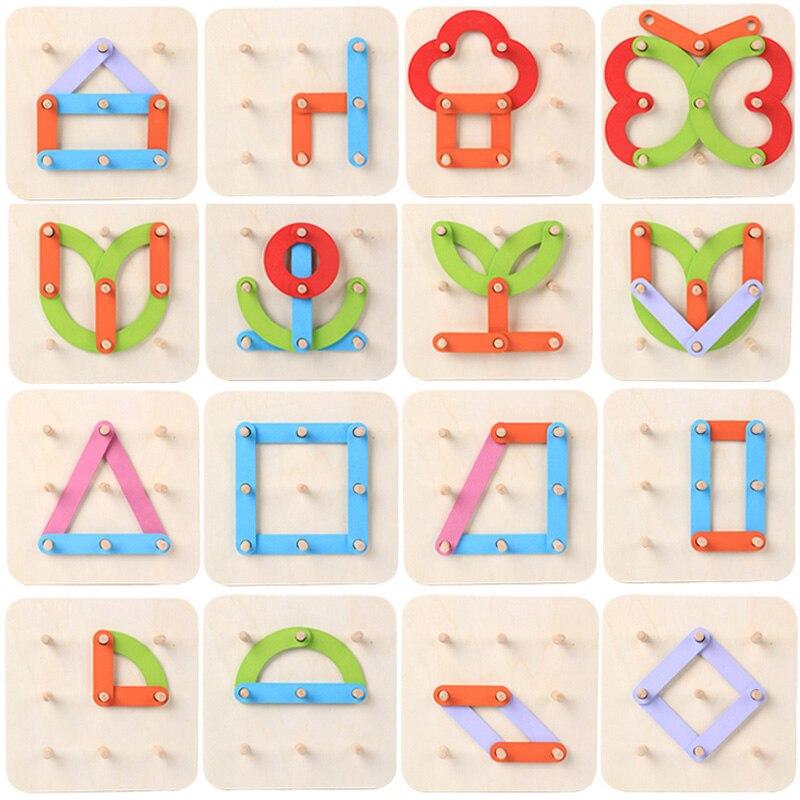 MYHOESWD enfants en bois Puzzle lettre démontage Puzzle jouets éducatifs pour enfants apprenant à développer des jouets pour les garçons - 3