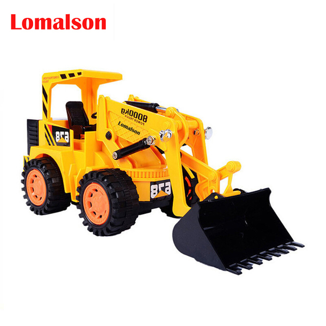Remote control Bulldozer Car Toys 6CH Wireless Truck Vehicle Model kids Boy Children's Construction Cars Toys Christmas gifts
