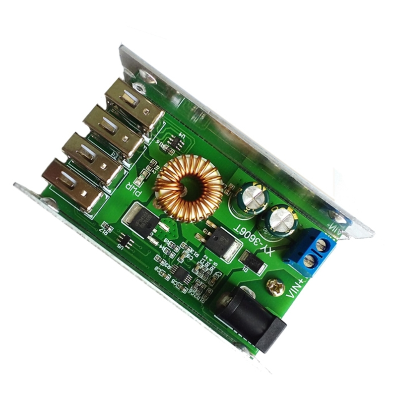 1PC DC-DC Power Supply Module 24V/12V to 5V 5A Converter Replace LM2596S