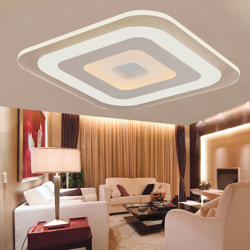 Living Room Light Interior Design Ideas For Rooms Ireland Modern Led Ceiling Lights Acrylic Decorative Lampshade Kitchen Lamp Lamparas De Techo Moderne Lamps In From