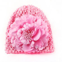 TELOTUNY baby hats fashion flower hat Spring and autumn new style beanie caps children Flower newborn photography props Z0828(China)