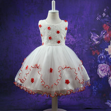 2017 new summer Girls Kid 3D flower lace Princess dress comfortable cute baby Clothes Children Clothing 20W