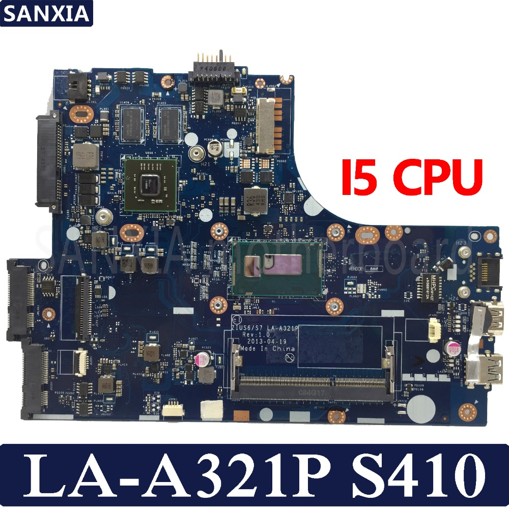 KEFU ZIUS6/S7 LA A321P материнская плата для ноутбука lenovo S410 Тесты оригинальная материнская плата I5 Процессор