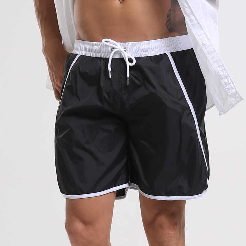 Męskie kąpielówki dla mężczyzn stroje kąpielowe kąpielówki bermudy plaża szorty szybkie pranie luźna szorty bokserki