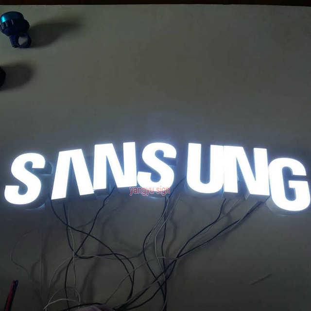 custom outdoor mobiele telefoon winkel naam ontwerp sign board 3d verlichting up letters