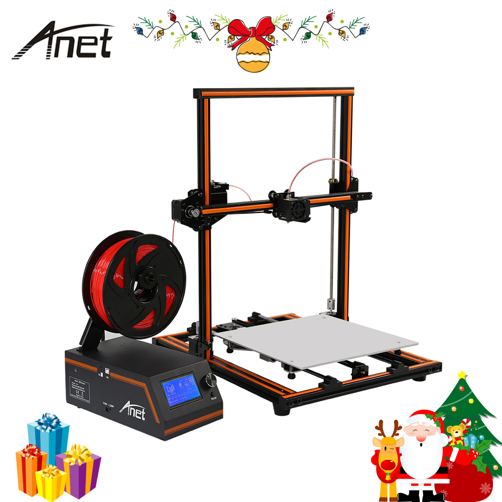 New Anet E10 E12 Easy Impresora 3D Printer DIY Christmas gift Full Aluminum Imprimante 3D Large