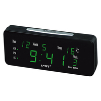 Sunlynn 12/24 Hours Loud Dual Alarm Clock Automatic Lightness With Large Letters Electronic Temperature Display Desktop Clock