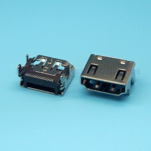 Interface HDMI 19P, 50 pièces/lot, prise femelle TYPE A, prise SMT, HDMI
