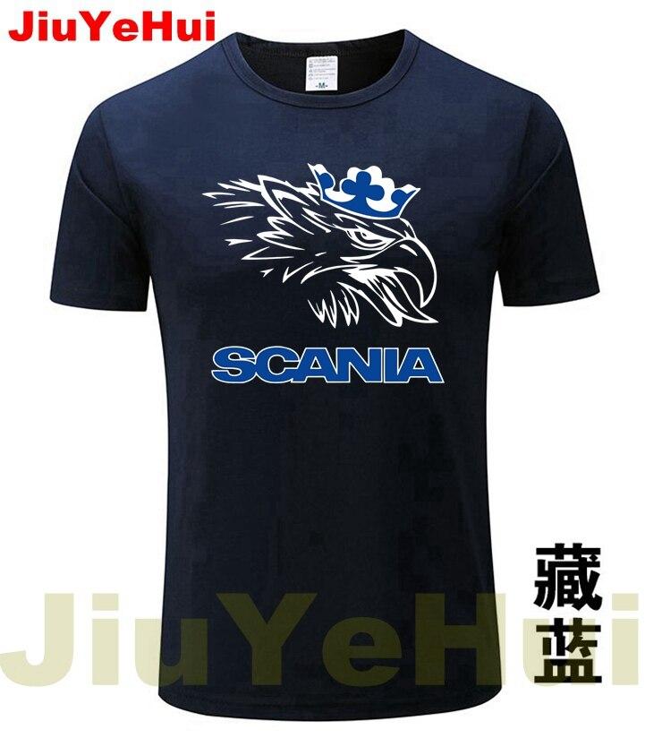 Brand New Cars SCANIA Truck Bus LOGO Men's   T  -  shirt   Summer High Quality Fashion Short-Sleeved   T     shirt   Car Auto Tshirt Tee