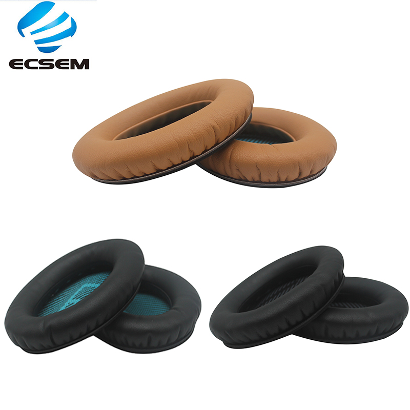 1 pair <font><b>Replacement</b></font> <font><b>Ear</b></font> <font><b>Pad</b></font> for BOSE QC15 QC25 QC35 memory foam cushion for QuietComfort <font><b>Ears</b></font> Cup Cushion Earpads Protein Leather image
