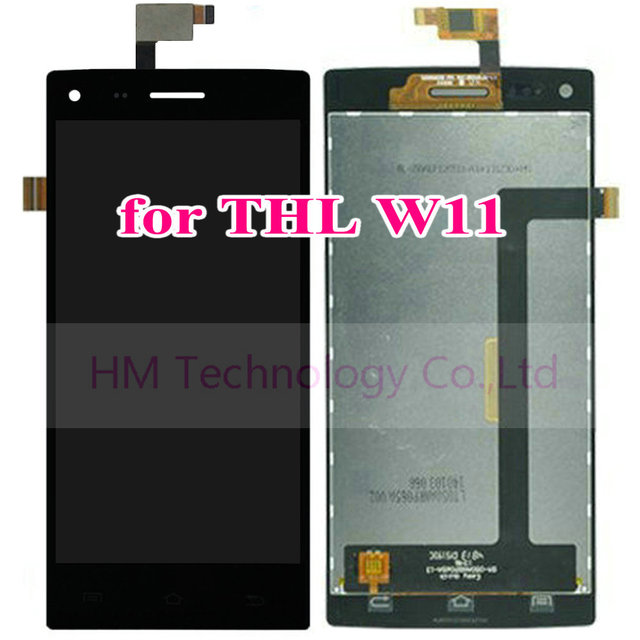 """5.0"""" Black LCD+TP for THL W11 LCD Display+Touch Screen Digitizer Assembly Front Glass Panel Replace Part Free Shipping+Tools"""