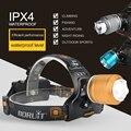 BORUIT 2000LM T6 светодиодный налобный фонарь с 3 режимами, масштабируемый налобный фонарь с 18650 батареей, водонепроницаемый фонарь для кемпинга и охоты - фото