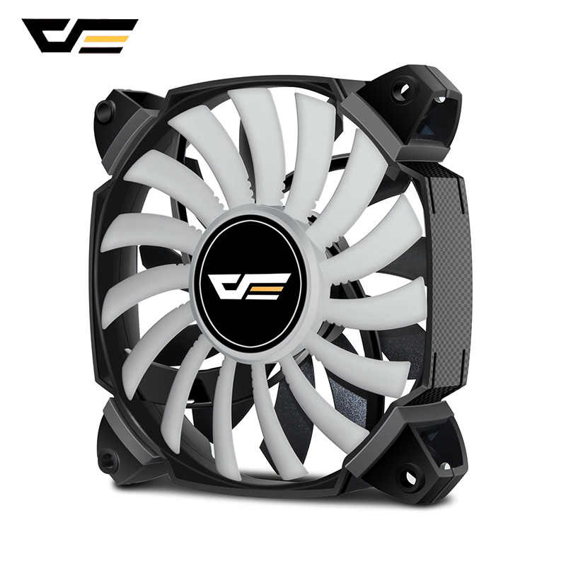 DarkFlash ZR12 Dual Blade PC Fan 120mm Stille Case Cooling Fan Cooler PWM 4pin + 3pin voor Computer Case CPU Cooling Fans Radiator