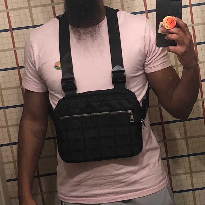 Bolsas de plataforma de pecho de bolsillo táctico ajustable Hip Hop Streetwear bolsa de pecho táctico funcional bolso de hombro cruzado Kanye West 2019