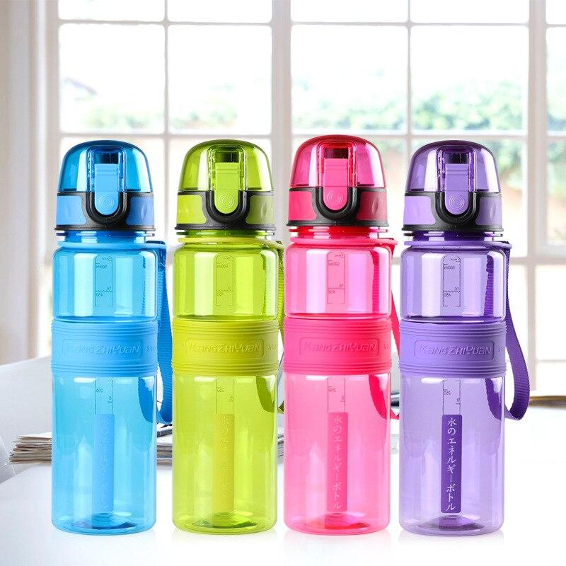 500 ML Botella de Agua Cubierta de la Botella de Agua de Plástico Portable Rebot