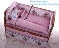 Promoção! 10 PCS Mickey Mouse conjunto de cama roupa de cama berço do bebê berço jogo de cama ( amortecedores de colchão + travesseiro )