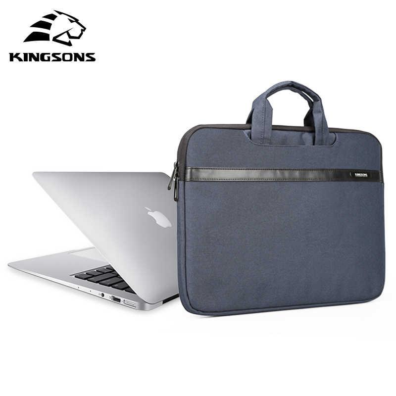 Kingson 11 13 14 15 بوصة حقيبة الكمبيوتر المحمول للرجال والنساء كمبيوتر محمول للأعمال حقيبة يد حقيبة دفتر سعة كبيرة رمادي أزرق وردي