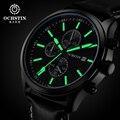 2016 Limitada Homens Da Forma do Relógio Ochstin Multifunction Casual Relógios Top Marca de Luxo de Couro de Pulso de Quartzo Reloj Hombre