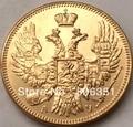 1840 24-каратное золото 100% Россия 5 рублей золотая монета КОПИЯ - фото