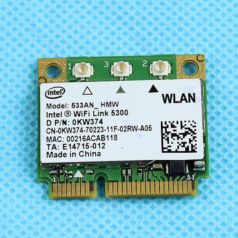 NEW Dell Ultimate-N Intel WiFi Link 5300 Wireless Half Mini Card OKW374 533ANHMW