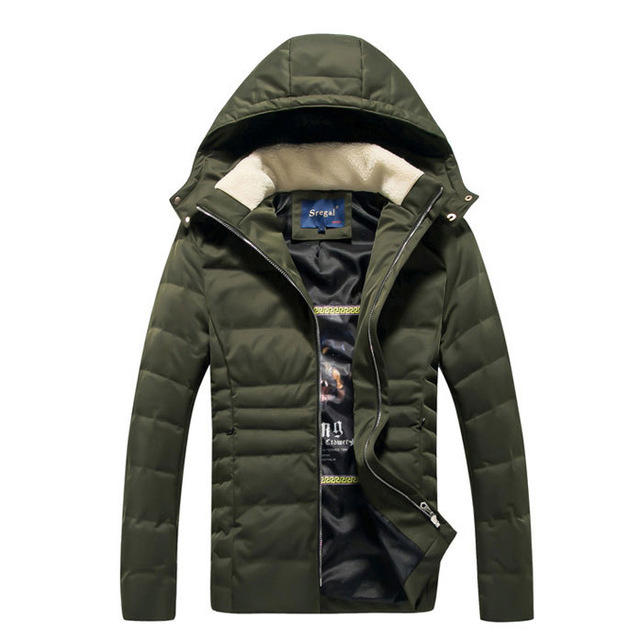 Short Style Parka Winter Cotton Down Jacket For Men Korean Big Size L-4XL Slim Fit Stand Collar Man Casual Coat Homme Grey E374 stylish slim fit inclined zipper cardigan for men light grey size l