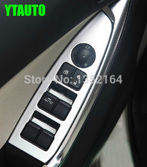Kryt interiéru loketní opěrky interiéru, obložení spínače oken pro Mazda cx-5 cx 5 2014 2015, auto příslušenství, 4ks / sada.