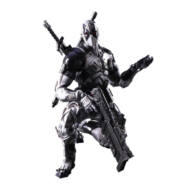 1PC 27cm X-MEN Toys Deadpool Figure Play Arts Gray Dead Pool Super Hero Model Toy Gift Action Figures Bricks with Box 2017 fashion sexy pointed toe women high heel pumps metal heels stiletto ladies party shoes wedding pumps