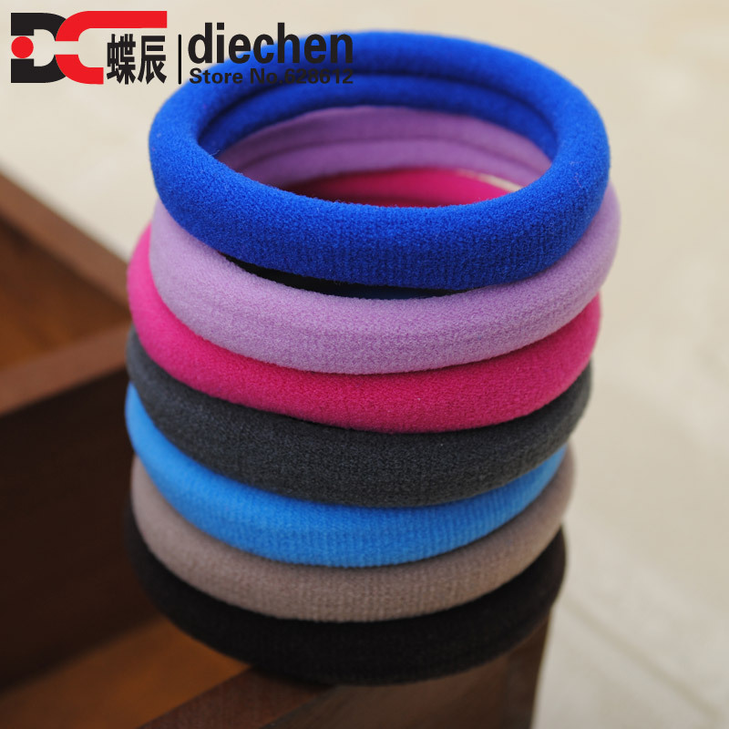 10pcs/lot Assorted Colors Seamless No-damage Elastics Ponytail Holders Stretchy Hair Rubber Bands Hair Ties Hot Hair Accessories