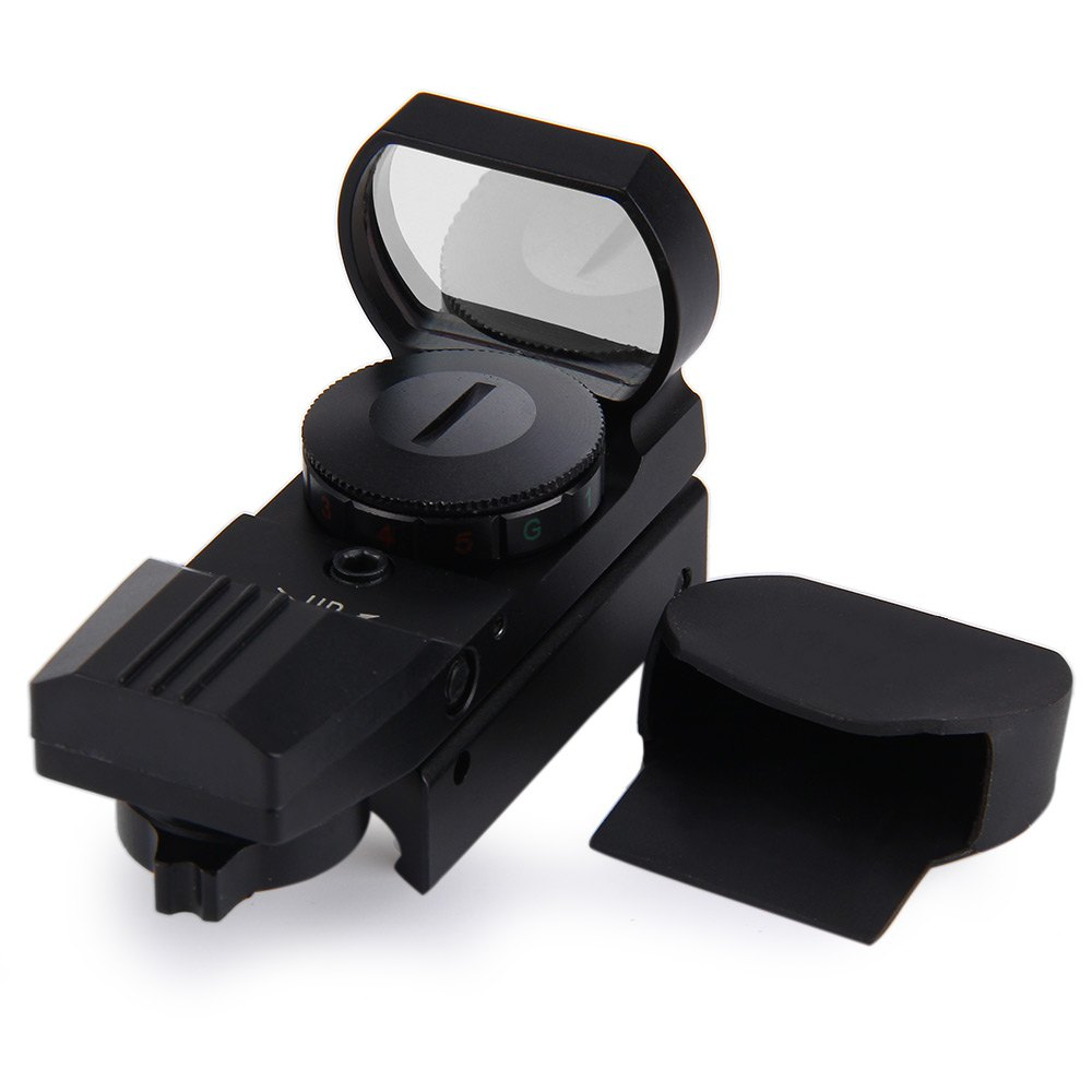 11/20 milímetros Rail Riflescope Caça Airsoft Holográfica Red Dot Sight Scope Optics Reflex 4 Reticle Tactical Arma Acessórios hot