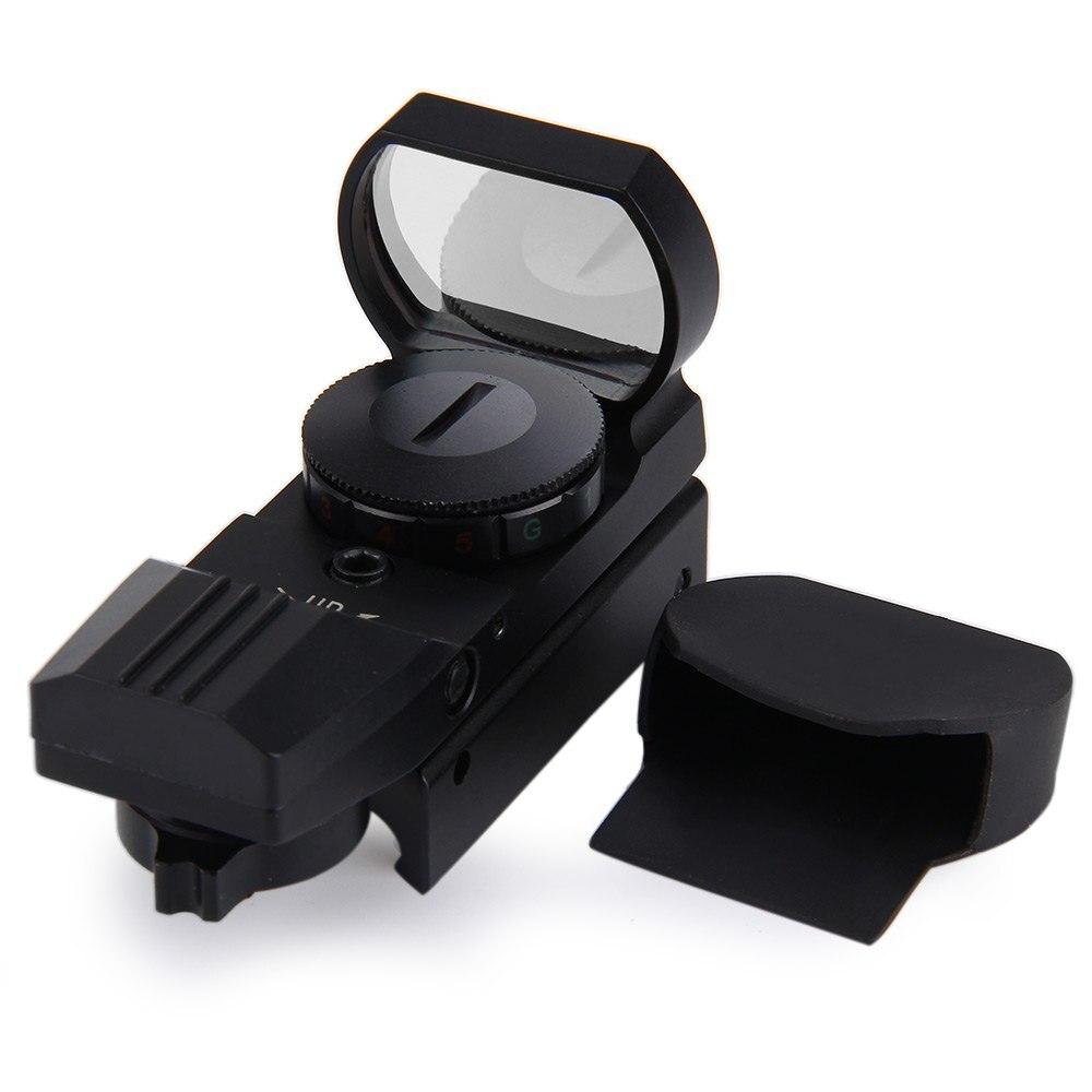 11/20mm Rail lunette de visée chasse Airsoft optique portée holographique point rouge viseur Reflex 4 réticule tactique pistolet accessoires chaud