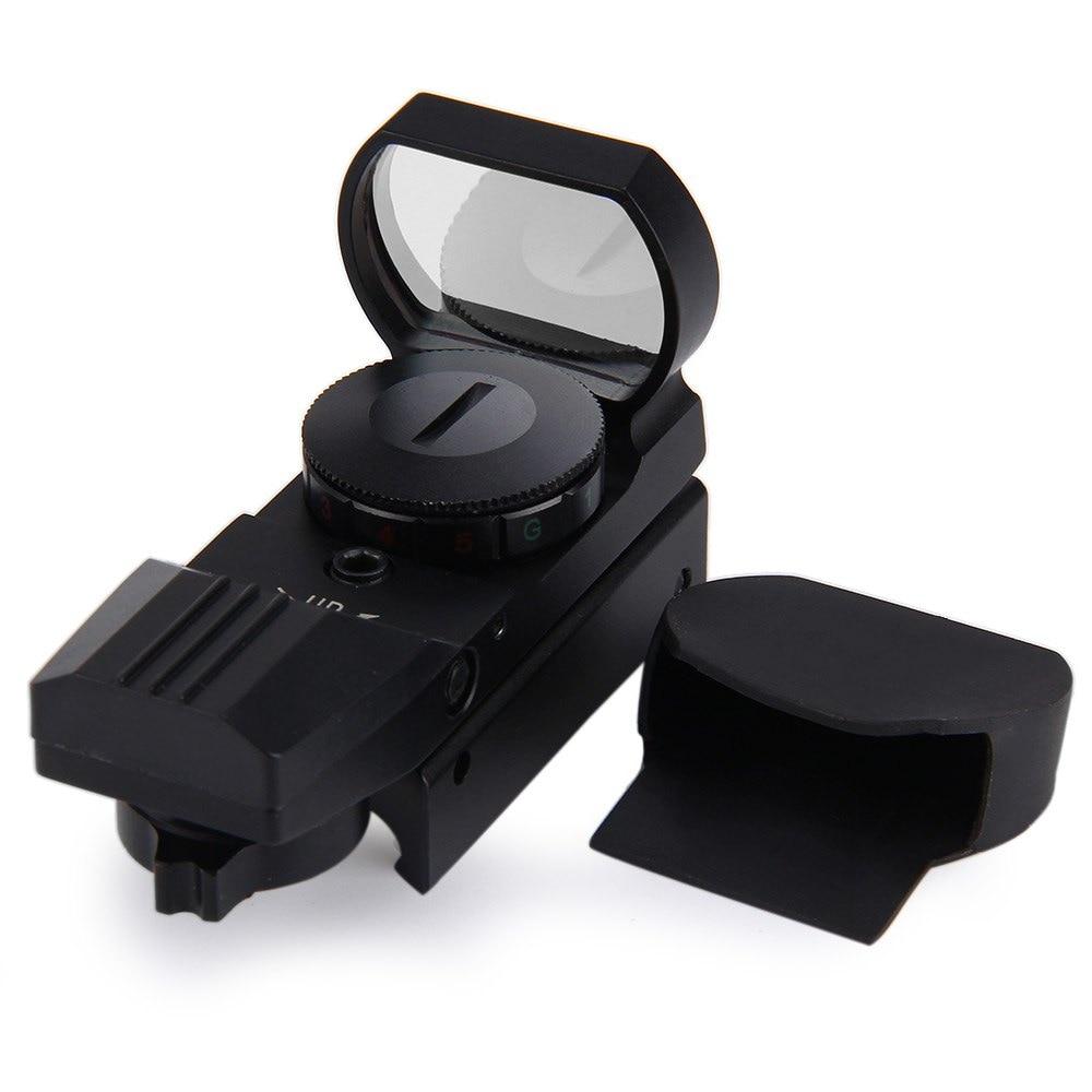 11/20mm carril Riflescope Airsoft caza óptica alcance holográfica vista de punto rojo reflejo 4 retículo táctico pistola Accesorios caliente