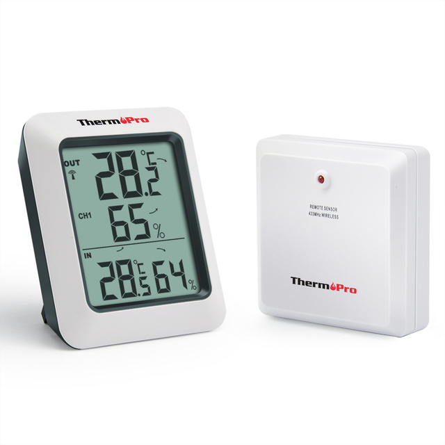 ThermoPro TP60 60 m Wireless Digital Igrometro Termometro Esterno Dell'interno U