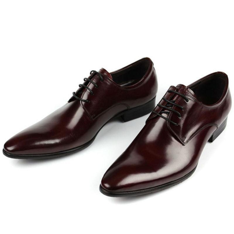 Preto Casamento Genuíno Hombre Couro Zapatillas Preto Nova Homens 2018 Sapatos Formais Vestido Sapatas Dos Marrom Masculina De vermelho Moda Vinho Mycolen Italiano aqgwx