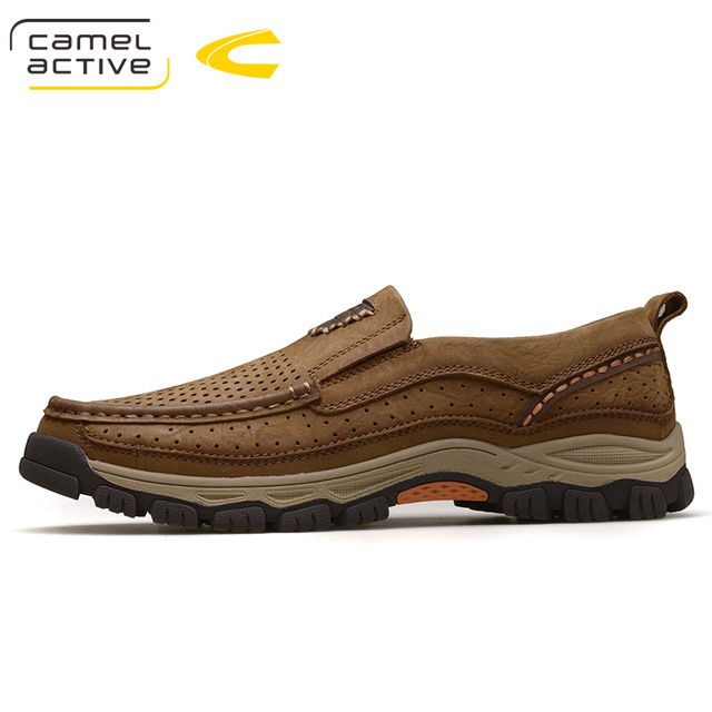 Camel Active Men Shoes 2018 Spring/Autumn Casual Fashion Oxfords Breathable  Flat Footwear Genuine Leather