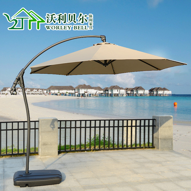 Outdoor Furniture Umbrella Patio Umbrellas Beach Park Clubhouse Balcony  Large Rotating Banana Shade