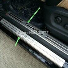 8 шт. нержавеющей стали скребок/сбоку порога подходит для-волк-swagen-Tiguan 2009 2010 2011 2012 2013
