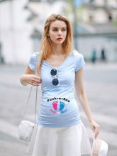 casual cotton maternity dress maternity clothes plus size ladies pregnant dresses multicolor long T-shirt dress