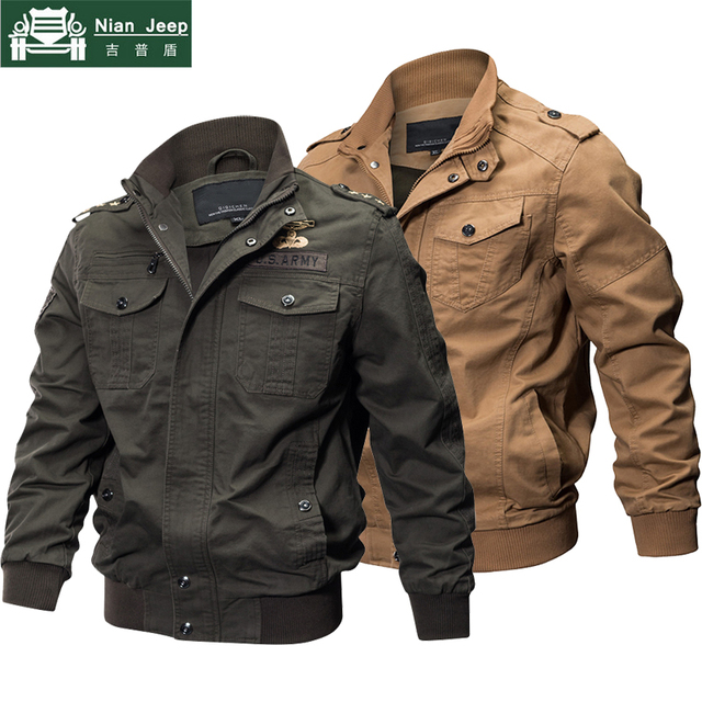 2018 Plus Size Military Jacket Men Spring Autumn Cotton Pilot Jacket Coat Army Men's Bomber Jackets Cargo Flight Jacket Male 6XL 3