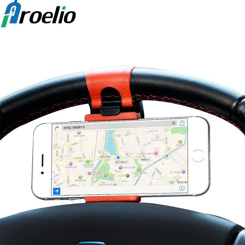 Universal Car Phone Holder Bracelet Steering Wheel Phone Stand Mount Car Mount Stand For Phone Support SmartPhone Mobile Holder