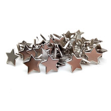 50PCS 13.5*10mm Cute Five Pointed Star Metal Brads Nails Rivets Fastener Embellishment Gift Diy Scrapbooking Paper Album(China)